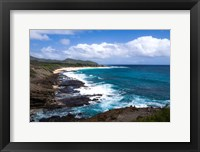 Framed Oahu Rocky Shores II