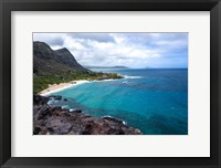 Framed Oahu Cliffs