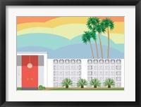 Framed Palm Springs Sunset