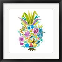 Framed Vibrant Pineapple