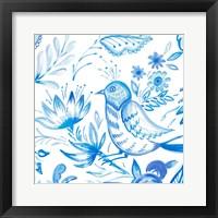 Framed Birds in Blue II