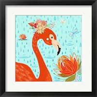 Framed Flamingo in the Rain