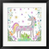 Framed Unicorn Forest II