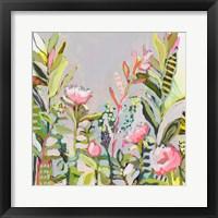 Framed Blushing Wildflowers I