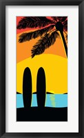 Framed Sunset Surf Panel