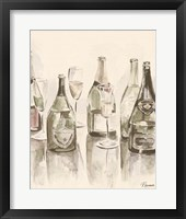 Framed Sepia Champagne Reflections I