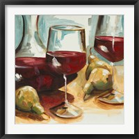 Framed Red Wine and Pears
