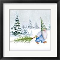 Framed Gnomes on Winter Holiday I