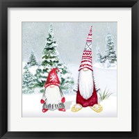 Framed Gnomes on Winter Holiday II