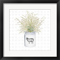 Framed Farm Herbs I