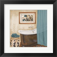 Framed Blue Zen Bath II