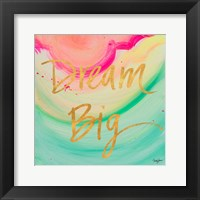 Framed Dream Big Watercolor