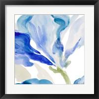 Framed Delicate Blue Square I