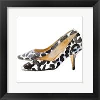 Framed Watercolor Kitten Heels III Square