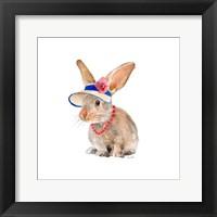 Trendy Meadow Buddy II (Flower Hat and Pearls) Framed Print