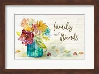 Framed Flower Burst Family and Friends
