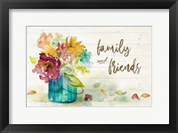 Framed Flower Burst Family and Friends