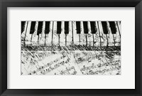 Framed Black & White Piano Keys