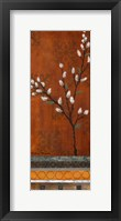 Framed Willow Stems Vertical I