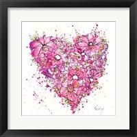 Framed Heart of Flowers