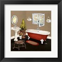 Framed Red Master Bath I