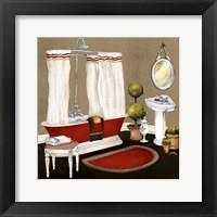 Framed Red Master Bath II