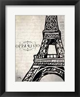 Framed Paris Eiffel