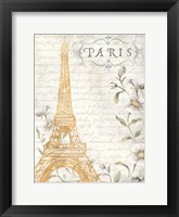 Framed Golden Paris I