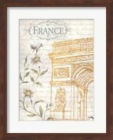 Framed Golden Paris II