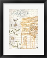 Framed Golden Paris II