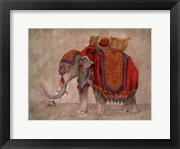 Framed Ceremonial Elephants I