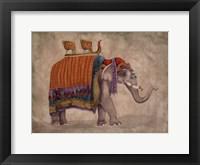 Framed Ceremonial Elephants II
