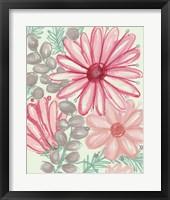 Color Burst Blooms II Framed Print