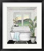 Framed Modern Black and White Bath I