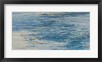 Framed Blue Lake Abstract