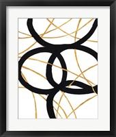 Framed Black and Gold Stroke I