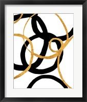 Framed Black and Gold Stroke II