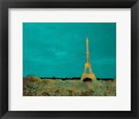 Framed Teal Paris