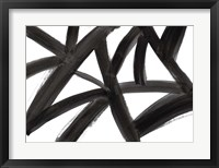 Framed Black Roads Abstract
