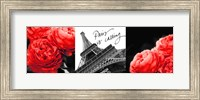 Framed Eiffel Tower Red Roses