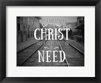 Framed Need Christ