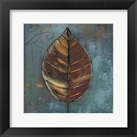 Framed New Leaf VII (blue/grey)