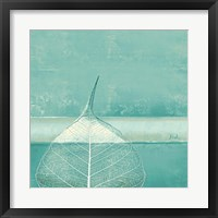 Less is More on Teal II Framed Print