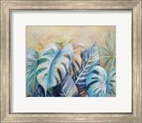 Framed Blue Plants I