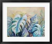 Framed Blue Plants I