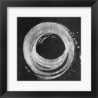 Framed Silver Circle on Black