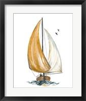 Framed Gold Sail I