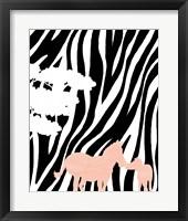 Framed Modern Zebra's
