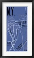 Framed N.Y. Grid Panel
