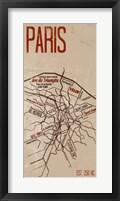 Framed Paris Grid Panel